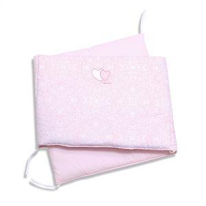 Aparatoare pentru patut 120×60 cm Pink Heart cu dubla prindere